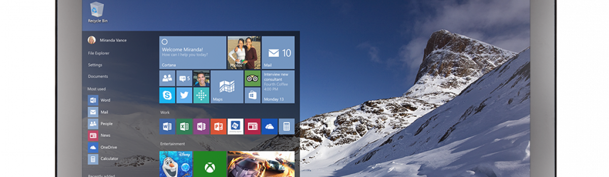 August Newsletter:  Windows 10 Will You Get It?